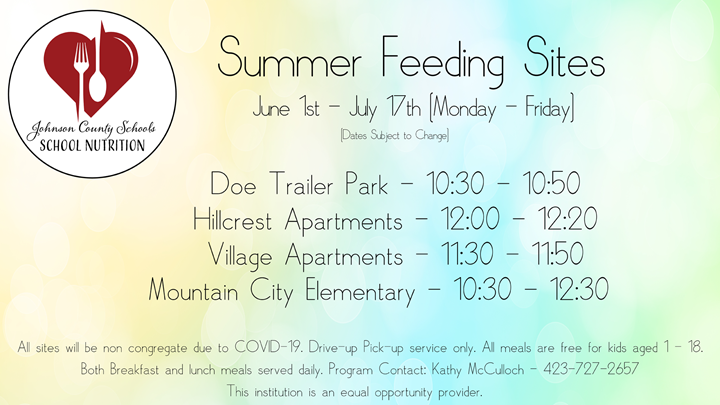 Summer Food Program Hours
